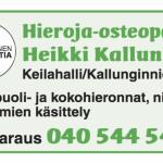 Hieroja-Osteopaatti Heikki Kallunki